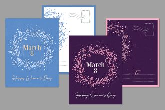 Free Women's Day Postcard Templates in PSD + Vector (.ai, .eps)
