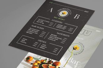 Free Organic Menu Template in PSD + Vector (.ai, .eps)