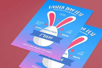 Free Easter Day Flyer Template in PSD + Vector (.ai, .eps)