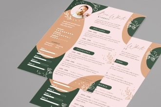 Free CV Florist Resume Cover Letter Template in PSD + Vector (.ai, .eps)