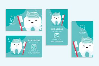 Free Dental Clinic Business Card Templates in PSD + Vector (.ai+.eps)