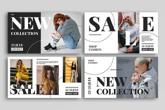 Free Fashion Social Media Banners Templates in PSD + Vector (.ai+.eps)