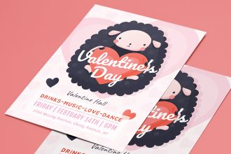 Free Valentine's Day Flyer Templates in PSD + Vector (.ai+.eps)