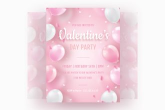 Free Valentine's Day Invitation Templates in PSD + Vector (.ai+.eps)