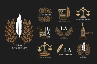 Free Law Logo Set Template in PSD + Vector (.ai+.eps)