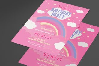 Free Birthday Invitation Template in PSD + Vector (.ai, .eps)
