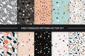 Free Terrazzo Pattern Set in EPS + PSD