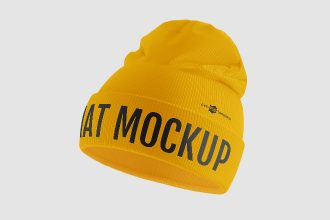 Free Winter Hat Mockups in PSD