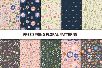 Free Spring Floral Patterns Template in PSD + Vector (.ai+.eps)