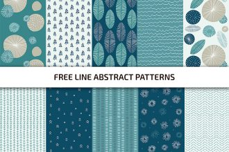 Free Line Patterns Template in PSD + Vector (.ai+.eps)