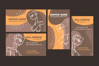 Free designer business card Template in PSD + Vector (.ai, .eps)