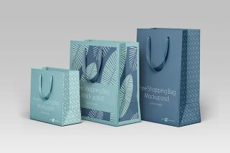Free SHOPPING BAG MOCKUP PSD