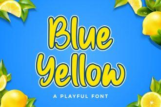 Free Blue Yellow Font