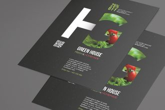 Free Green House Flyer Template in PSD + Vector (.ai, .eps)