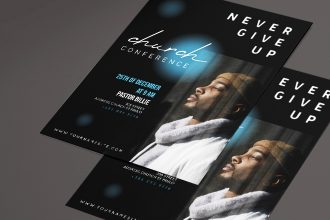 Free Gospel flyer template psd + Vector (.ai, .eps)