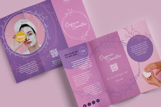 Free Product Tri-fold Brochure templates psd