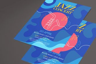 Free Flyer for Concert in Photoshop PSD + Vector (.ai, .eps)
