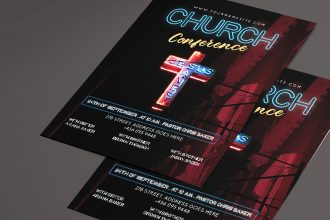 Free Church PSD Flyer Template + Vector (.ai, .eps)