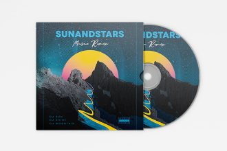 Free Cd cover music template in PSD