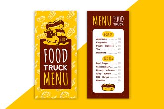 Free Food Truck Menu Templates in PSD + Vector (.ai+.eps)