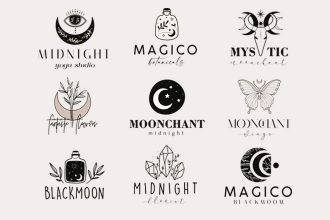 Free Creative Logo Templates set Photoshop + Vector (.ai+.eps)