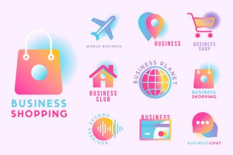 Free Business Logo psd templates set + vector