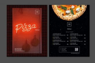 Free pizza menu template for photoshop