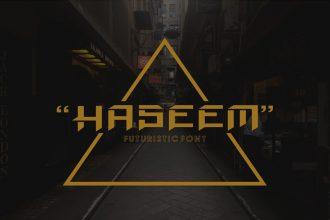 Free Haseem Futuristic Font