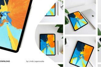 Free iPad 11 Pro Mockup PSD Template