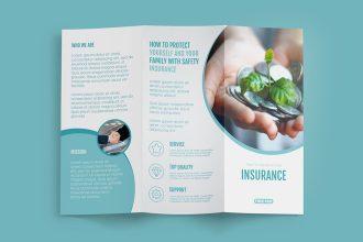 FREE Insurance TRI-FOLD BROCHURE Template