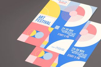 Free Art Event Flyer Template PSD + Vector (.ai, .eps)