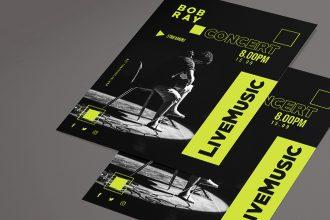 Free Concert Flyer Template PSD