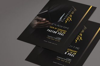 Free Pastor Flyer Template PSD + Vector (.ai, .eps)