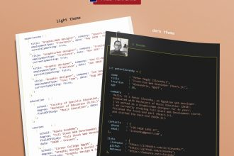 Free PSD Resume/CV Template for Programmers