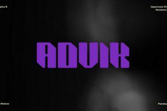 Free ADVIK Font