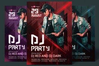 50 Best free Night Club and DJ flyers PSD templates