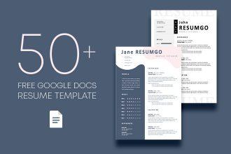 50+ Free Google Docs Resume Template