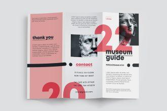Free Museum Guide Tri-Fold Brochure Template