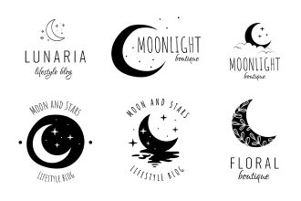 Free Moon Logo Set