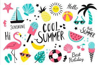 Free Summer Stickers