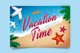 Free Vacation Postcard Template