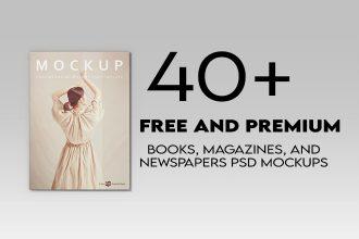 40+ Free and Premium PSD Qualitative Books/ Magazines/ Newspapers MockUps!