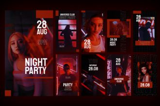 9 Free Instagram Night Party Stories in PSD