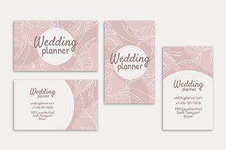 Free Wedding Planner Business Card PSD Template