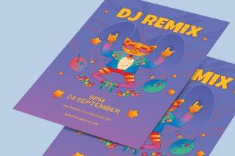 Free DJ Poster PSD Template