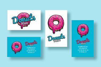 Free Donut Business Card Template