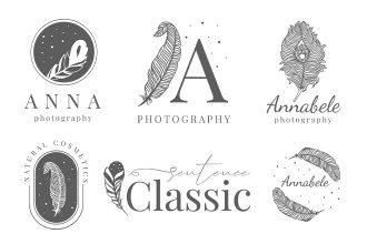 Free Feathers Logo Set