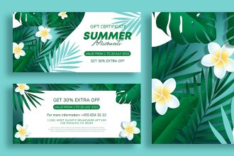 Free Summer Gift Certificate Template