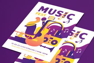 Free Music Fest Flyer Template