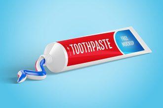 Free Toothpaste Mockup
